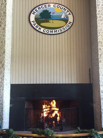 Mercer Skating Center Fireplace